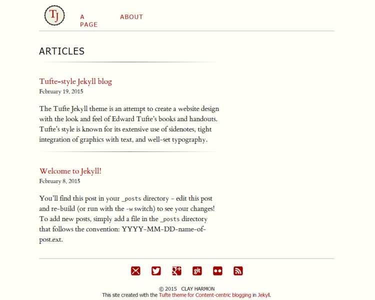 Jekyll Themes | Tufte-Jekyll